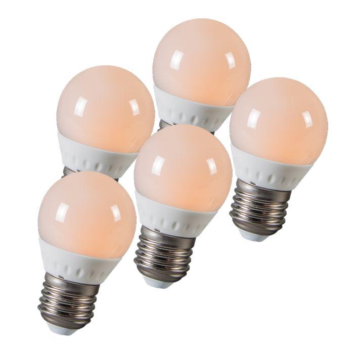 LED-golyó-E27-3W-250-lumen-kb.-25W-5-ös-készlet