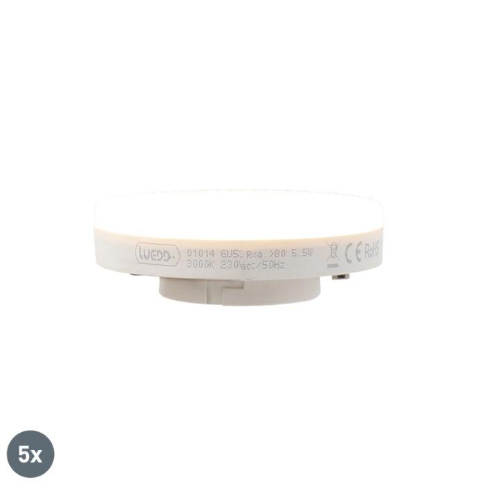 5-db-GX53-LED-lámpa-5,5-W-470-lumen-3000K-készlet
