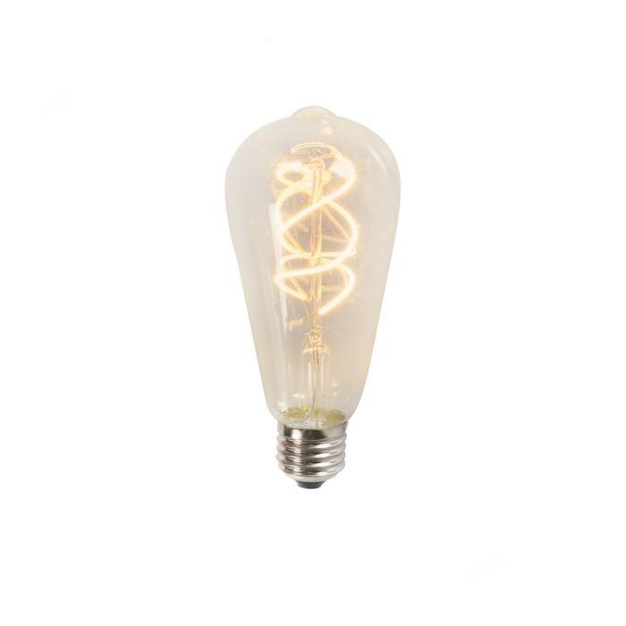 Csavart-LED-izzószál-ST64-5W-2200K-tiszta
