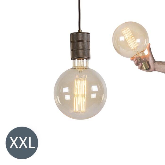 Függőlámpa-bronz-Megaglobe-tompítható-LED-lámpával