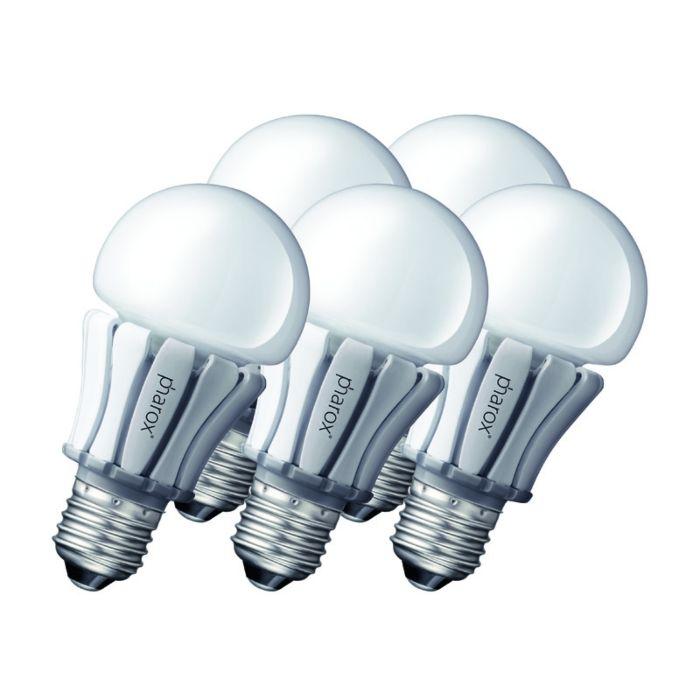 5-db-Pharox-LED-lámpa-400-E27-8W-230V-készlet