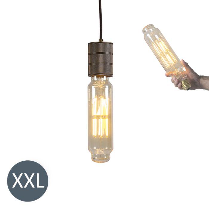 Függőlámpa-Torony-bronz,-szabályozható-LED-lámpával