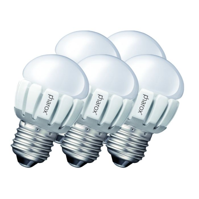 5-db-Pharox-LED-200-P45-E27-5W-230V-készlet