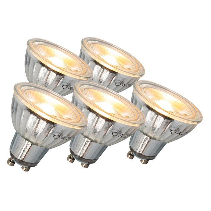 GU10-LED-lámpa-7W-500LM-3000K-tompítható-5-ös-készlet