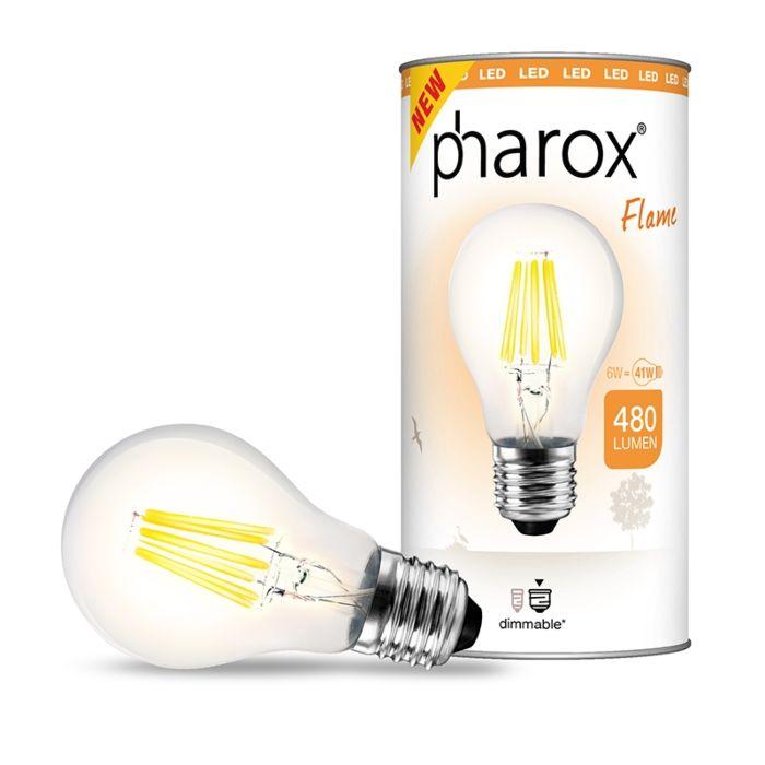 Pharox-LED-lámpa-Flame-E27-6W-480-lumen