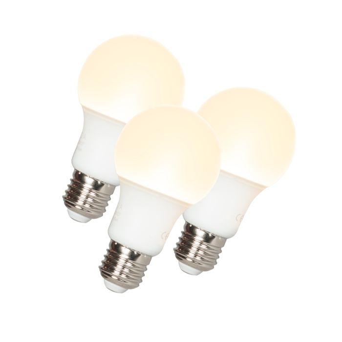 3-db-LED-es-lámpa-A60-E27-9W-3000K
