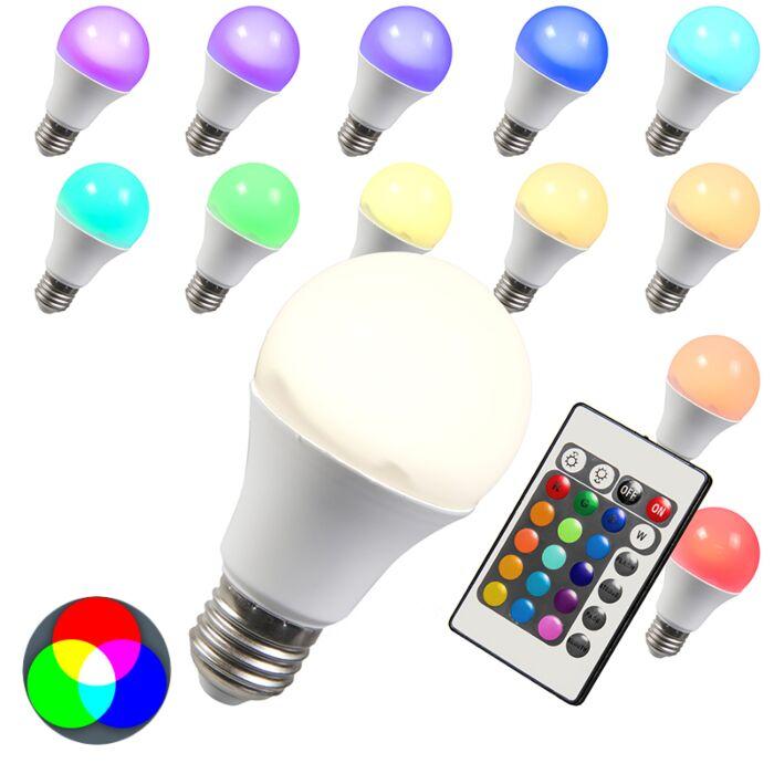 LED-izzó-RGB-E27-10W-extra-meleg-fehér