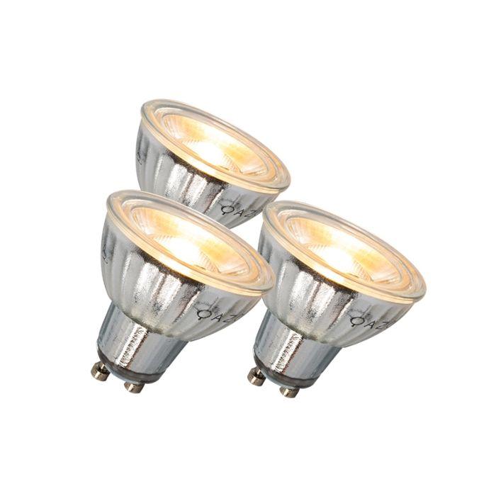 GU10-LED-lámpa-7W-500LM-3000K-tompítható-készlet-3-db