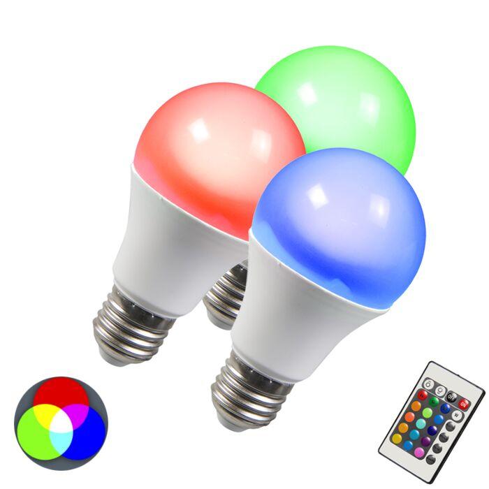 LED-izzó-RGB-E27-10W-extra-meleg-fehér-készlet-3-db