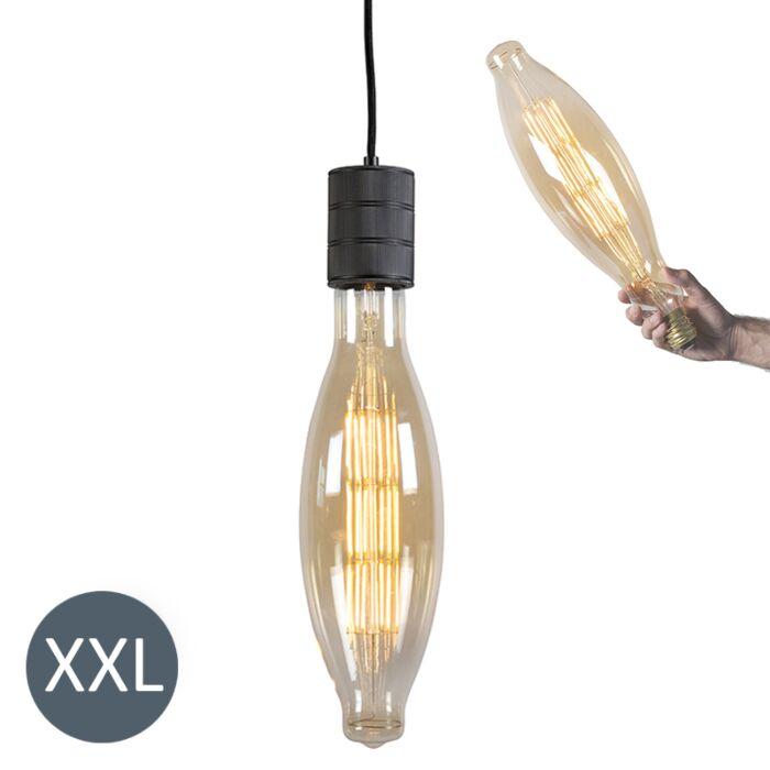 Lógó-lámpa-Elips-fekete,-szabályozható-LED-lámpával