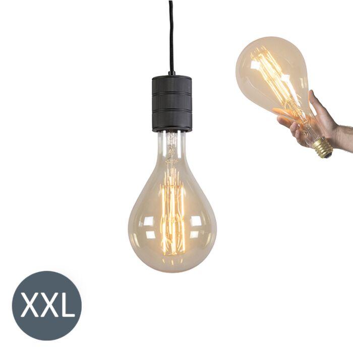 Lógó-lámpa-Splash-fekete,-szabályozható-LED-lámpával