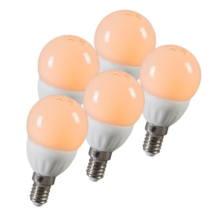 LED-golyó-E14-3W-250-lumen-kb.-25W-5-ös-készlet