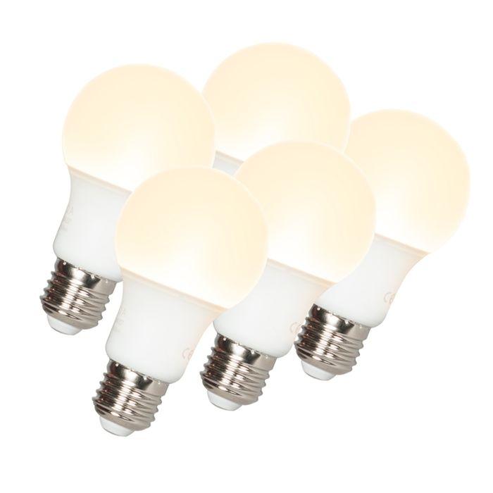 5-db-LED-es-lámpa-A60-E27-9W-3000K