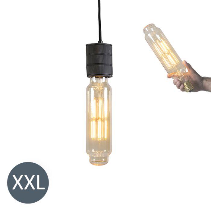 Lógó-lámpa-Torony-fekete,-tompítható-LED-lámpával