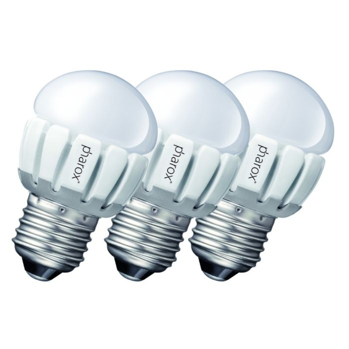 3-db-Pharox-LED-200-P45-E27-5W-230V-készlet