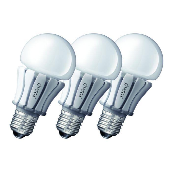 3-db-Pharox-LED-lámpa-400-E27-8W-230V-készlet