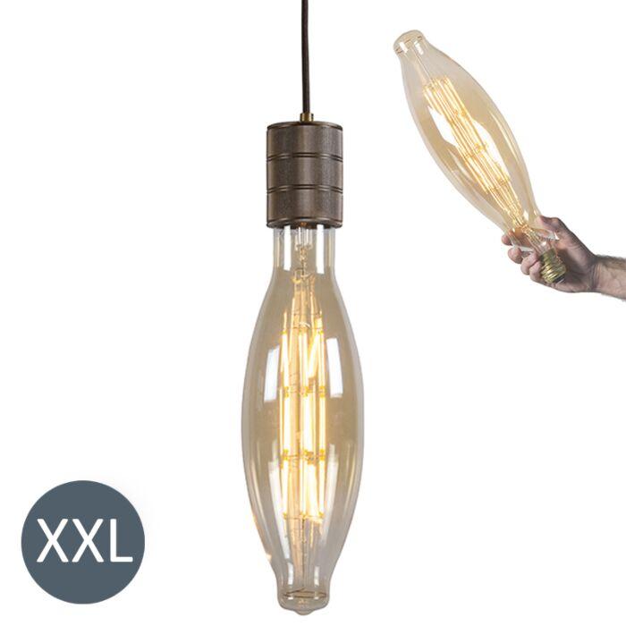 Függőlámpa-Elips-bronz,-szabályozható-LED-lámpával