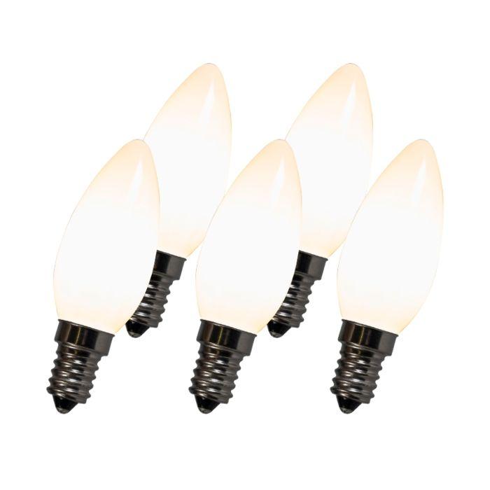 Izzó-LED-lámpa-C35-E14-2W-2700K-fehér-5-ös-készlet