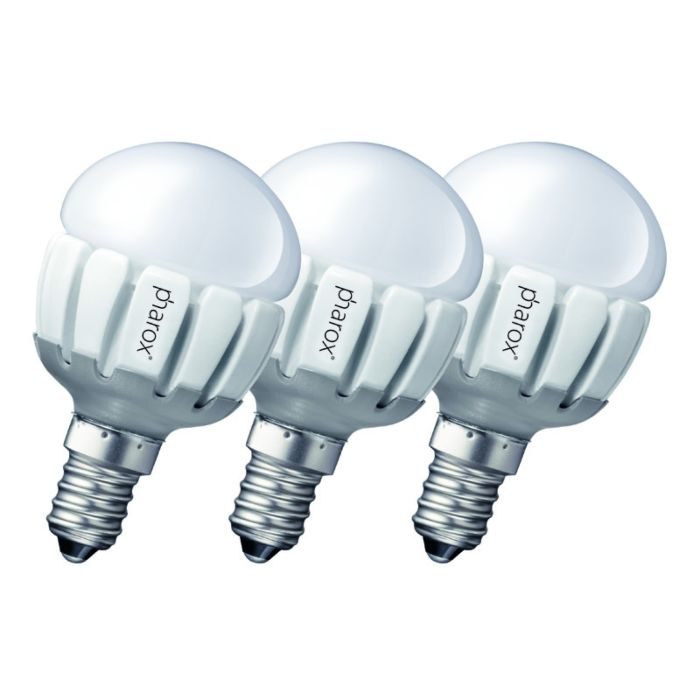 3-db-Pharox-LED-200-P45-E14-5W-230V-készlet