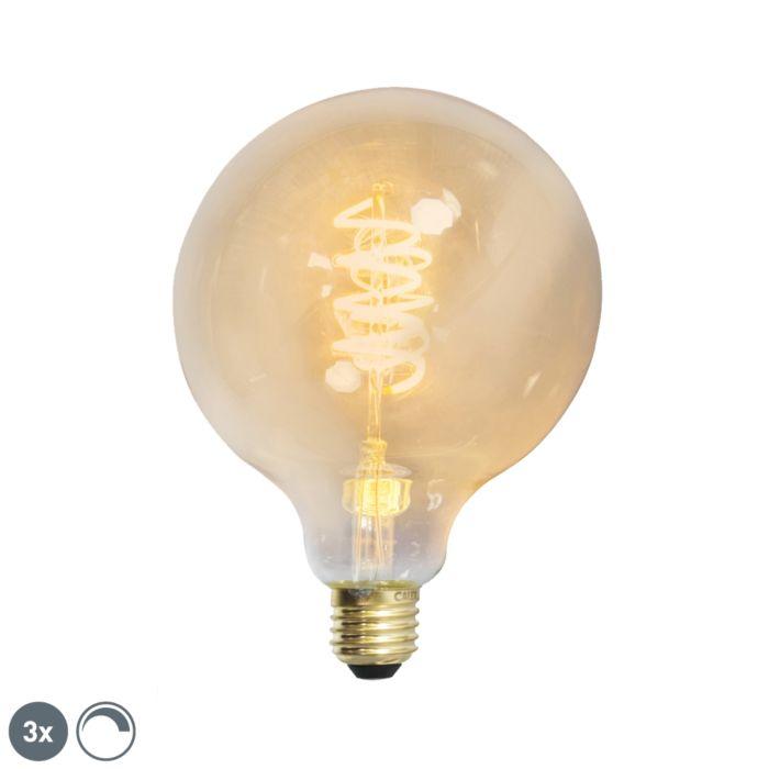 3-db-E27-szabályozható-LED-sodrott-szál-G125-arany-vonallal