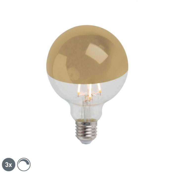 3-db-E27-szabályozható-LED-féltükör-G95-arany-280lm-2300K