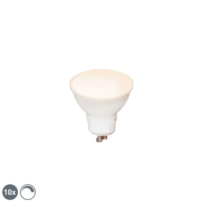 10-db-GU10-szabályozható-LED-lámpa-6W-450-lm-2700K