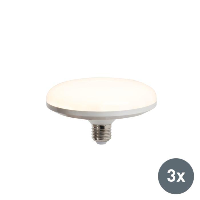 3-db-LED-es-lámpa-UFO-E27-18W-melegfehér