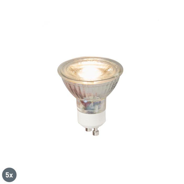 5-db-GU10-LED-es-lámpa-COB-5W-380LM-3000K