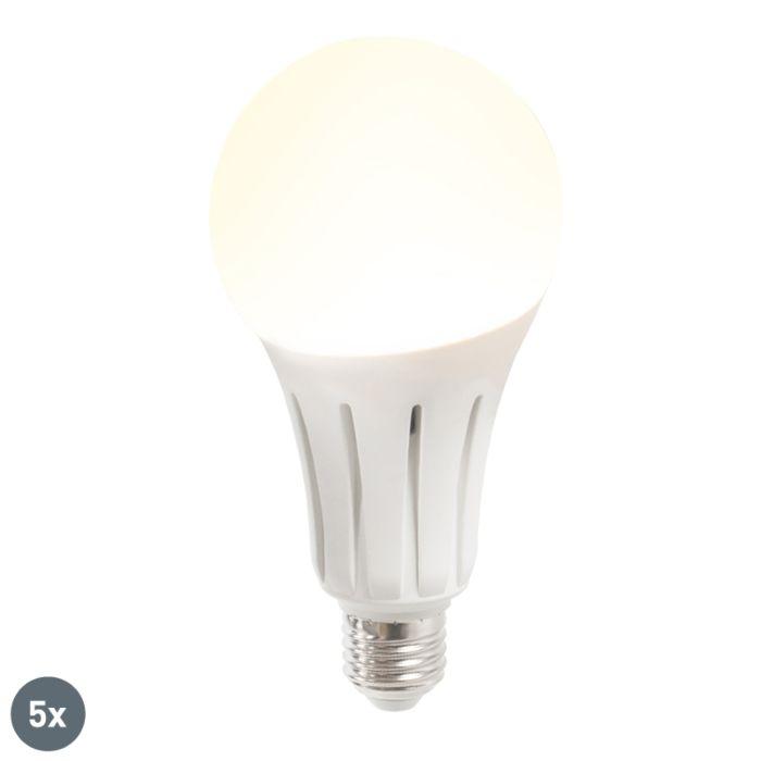 5-db-B80-24W-E27-LED-lámpa-melegfehér