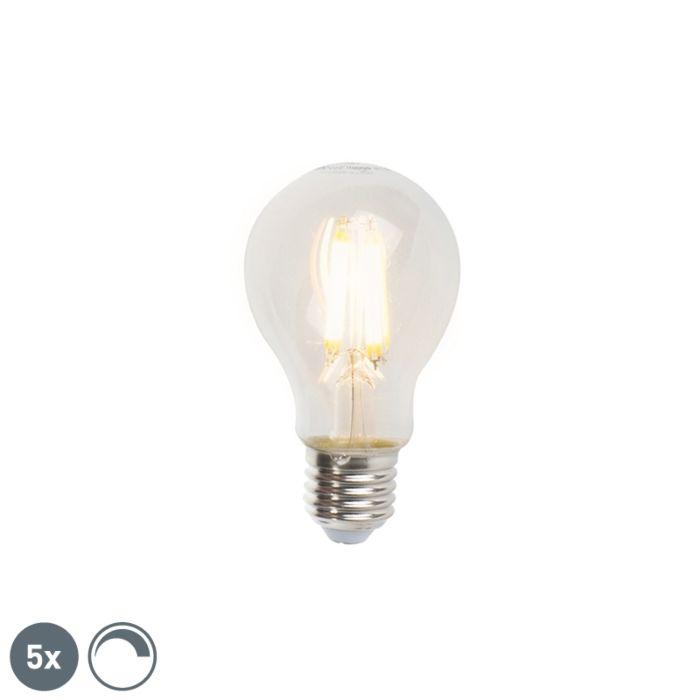 5-db-E27-szabályozható-LED-izzólámpa-készlet-A60-7W-806lm-2700K