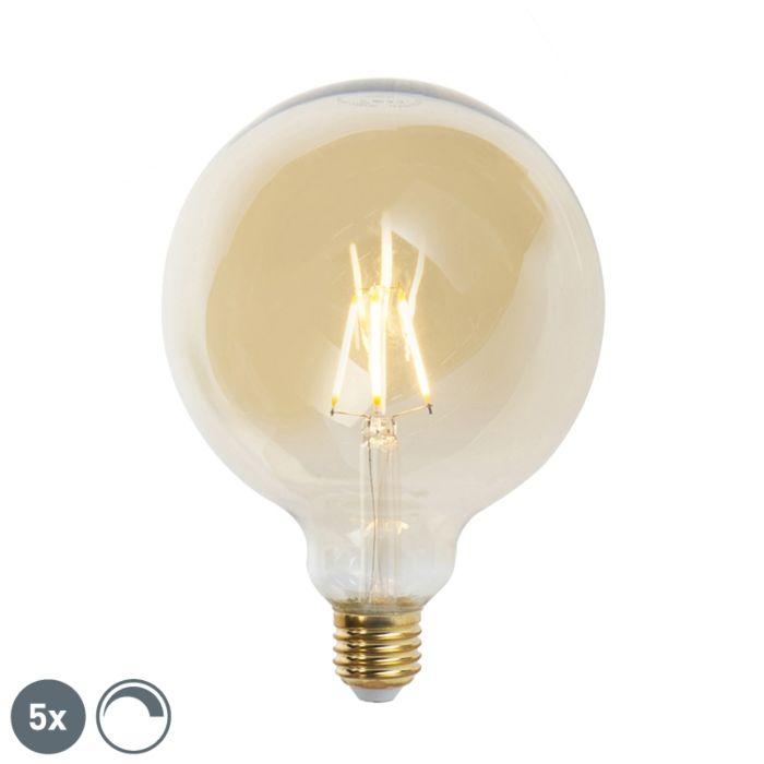 5-db-E27-szabályozható-LED-izzólámpa-G125-goldline-2200K