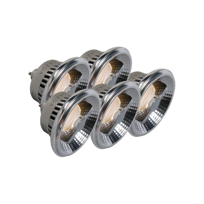 5-db-GU10-AR111-LED-lámpa-készlet-12W-240V-3000K-tompítható
