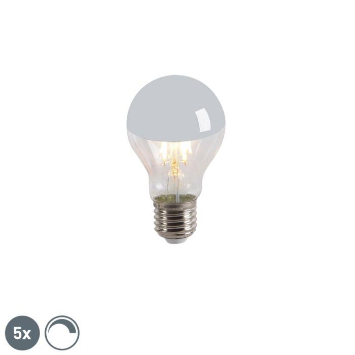 5-db-LED-es-izzólámpa-tükör-szett-E27-240V-4W-300lm-A60-tompítható