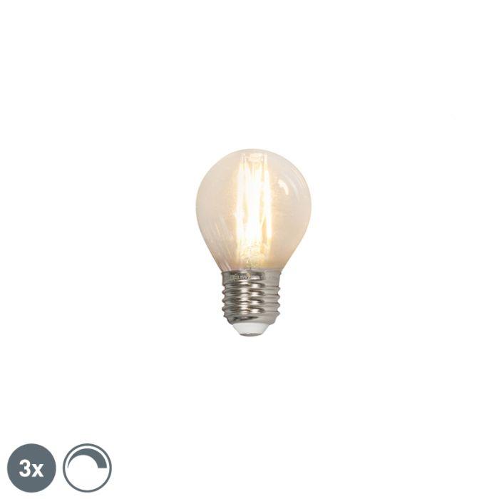 3-db-E27-240V-3,5W-350lm-P45-fényerő-szabályozó-izzólámpa