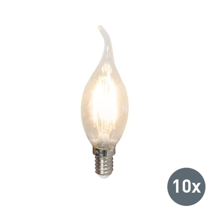 10-db-LED-es-izzólámpa-gyertyalámpa-E14-240V-3,5W-350lm-BXS35-tompítható