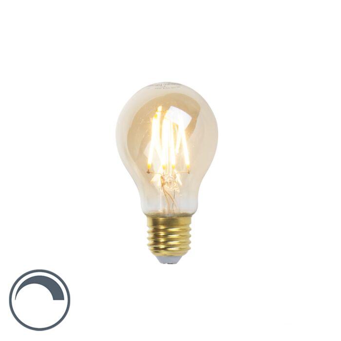 LED-Goldline-izzólámpa-E27-5W-360lm-A60-tompítható
