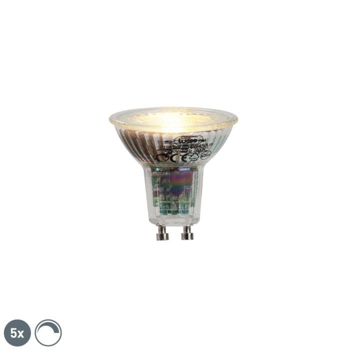 5-db-GU10-LED-lámpa-6W-450lumen-2700K-tompítható