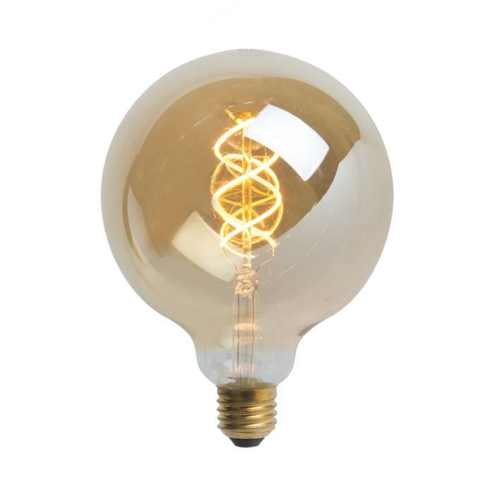 LED-izzó-földgömb-lámpa-E27-5W-300-lumen-melegfehér-2200K