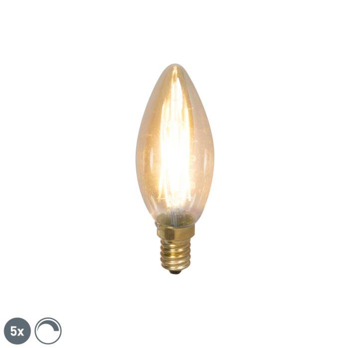 5-db-E14-fényerő-szabályozható-izzólámpa-gyertyalámpa-200lm-2100-K.