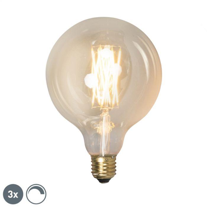 3-db-E27-szabályozható-LED-lámpa-készlet-G125-goldline-320lm-2100-K.