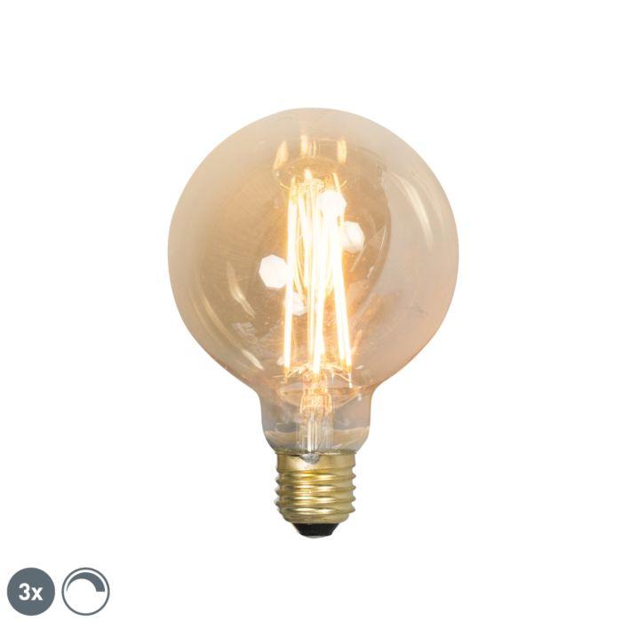 3-db-E27-szabályozható-LED-izzólámpa-G95-goldline-2100K