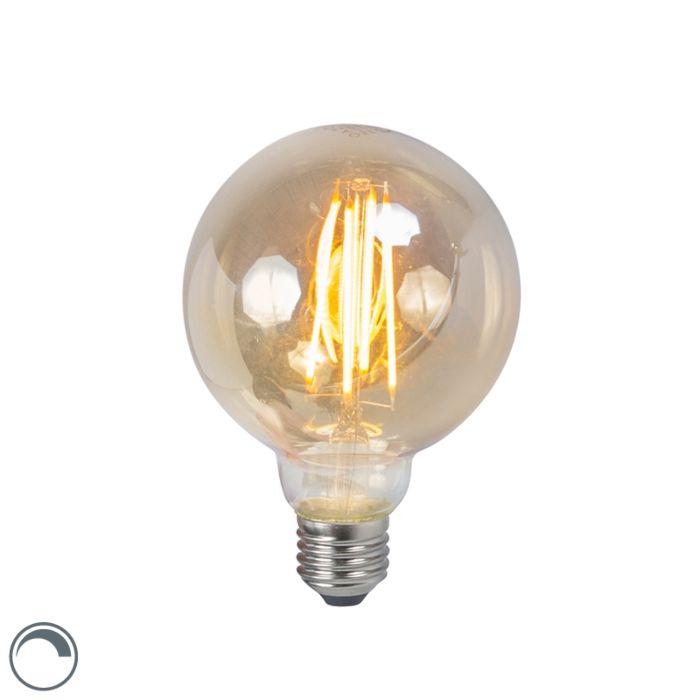 LED-izzólámpa-E27-5W-2200K-G95-füstölhető