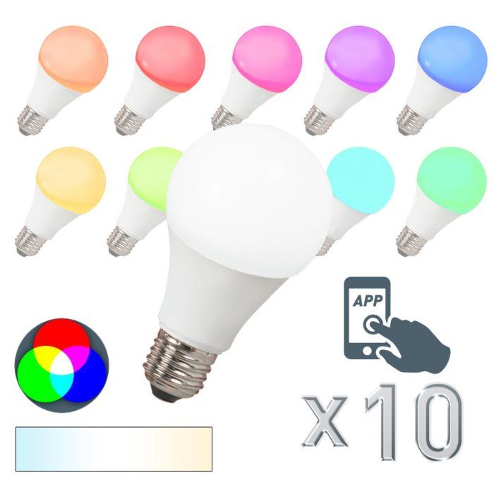 10-db-LED-es-lámpa-E27-240V-7W-500lm-A60-Smart-Light-készlet