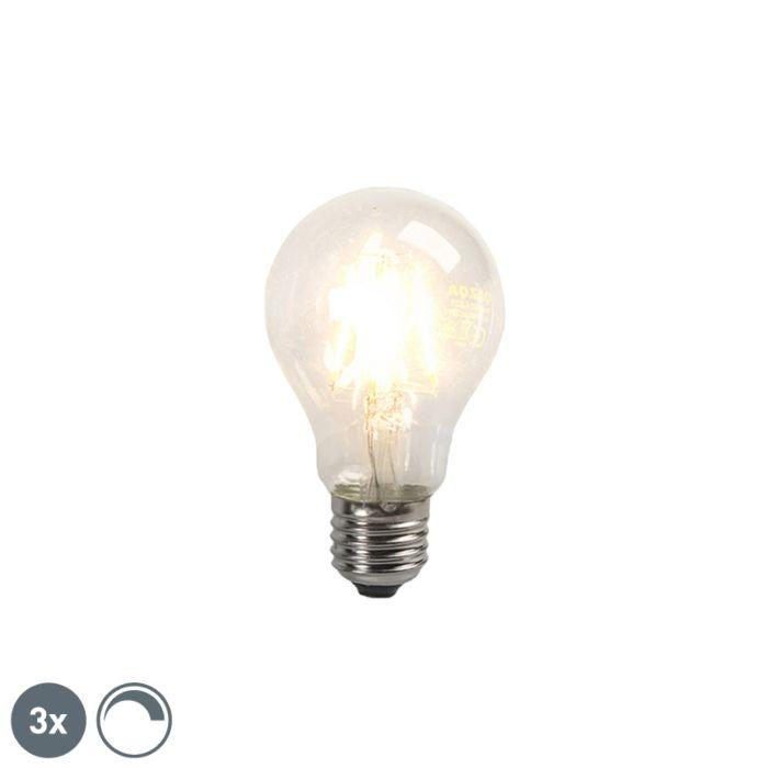 3-db-E27-4W-390lm-izzószálas-izzólámpa