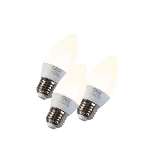 3-db-gyertyalámpa-LED-E27-5W-240V-2700K-tompítható