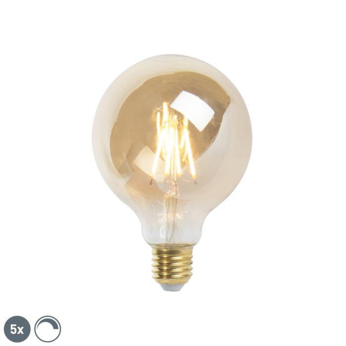 5-db-E27-szabályozható-LED-izzó-lámpa-9,5-cm-5W-360-lumen-2200K
