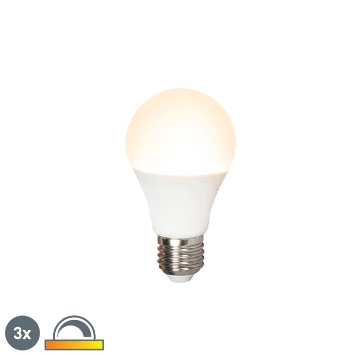 Három-LED-es-lámpa-készlet-E27-240V-7W-510lm-A60-tompítható