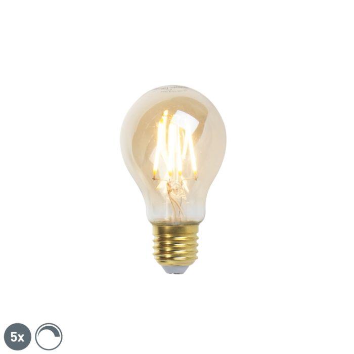 5-db-E27-szabályozható-LED-izzólámpa,-arany-vonal-360lm-2200K