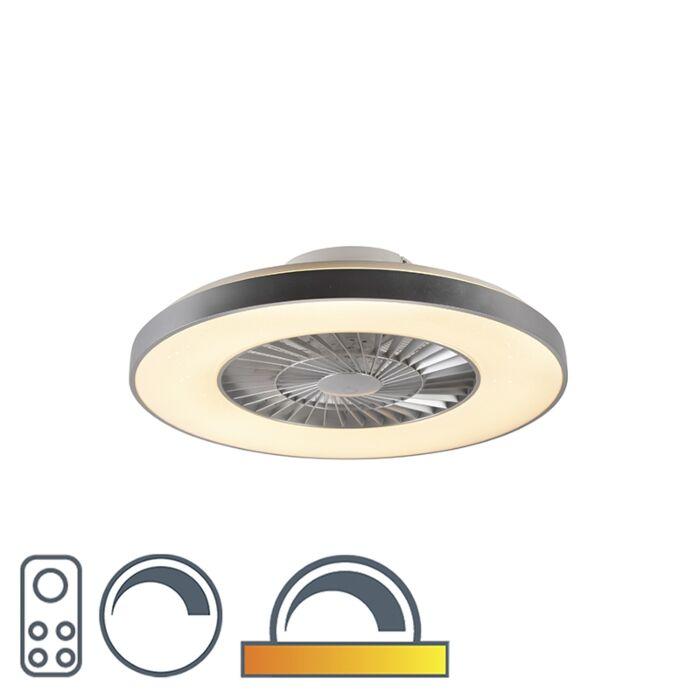 Mennyezeti-ventilátor-ezüst-csillaghatással-tompítható---Climo