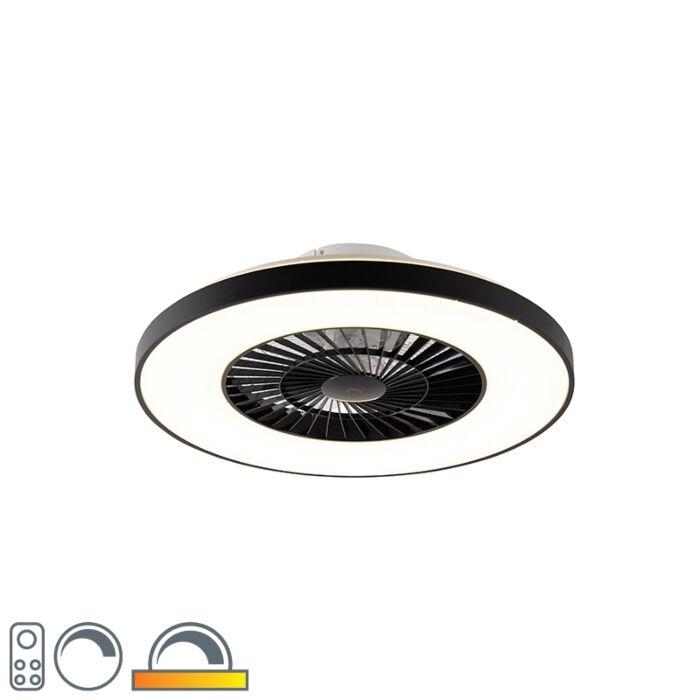 Mennyezeti-ventilátor-fekete-LED-del,-távirányítóval---Climo